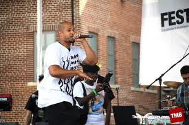 Boy Sand rocking out at the Brooklyn Hip Hop Festival, July 2011